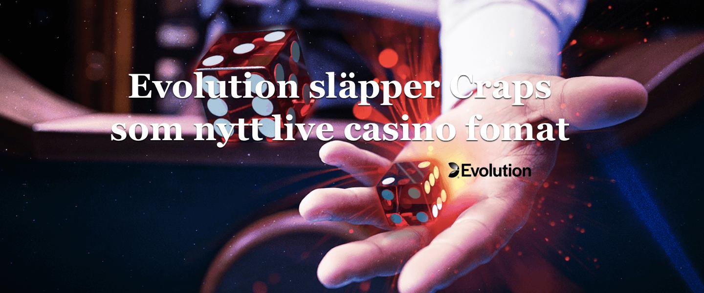 Craps släpps som nytt live casino format